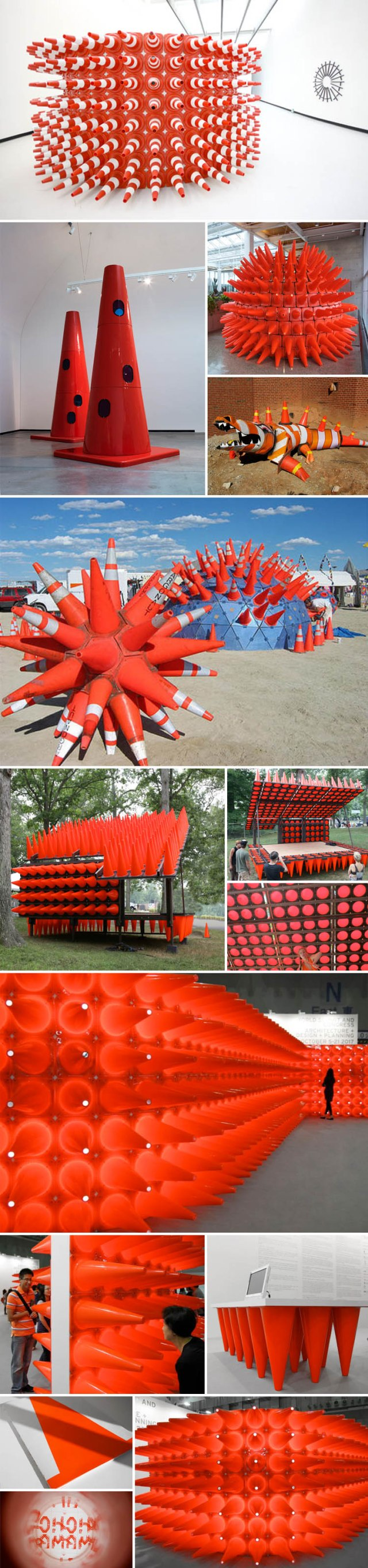 Teddy Cruz, Paprika, Dennis Oppenheim, Burning Man, Tomer Diamant, traffic cones