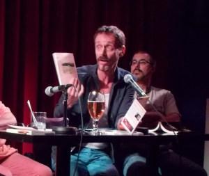 Denis-Martin Chabot lors d'une table ronde littéraire en août 2015